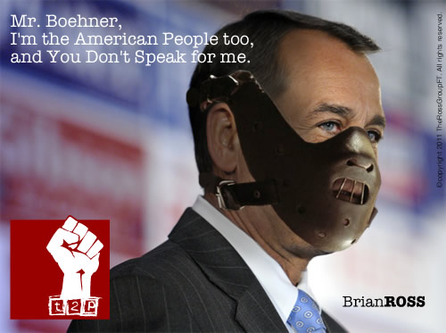 Mr. Boehner, I Am the American People Too, and You Don't Speak for Me