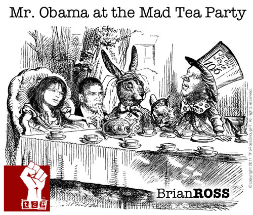 Mr. Obama at the Mad Tea Party