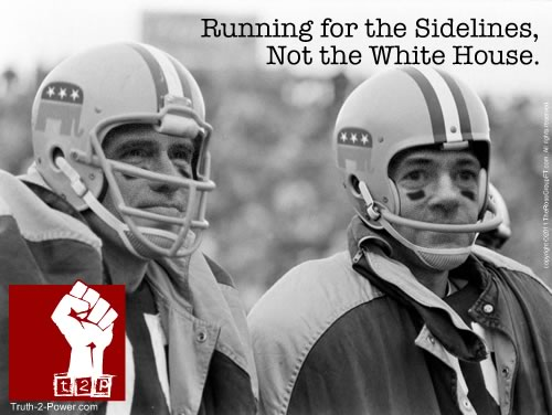 Running for the Sidelines, Not the White House